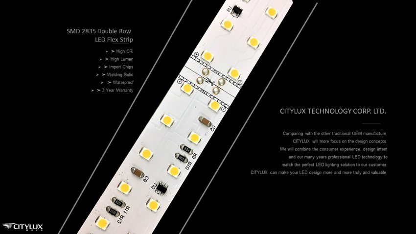 Import Chips SMD 2835 Double Row LED Flex Strip