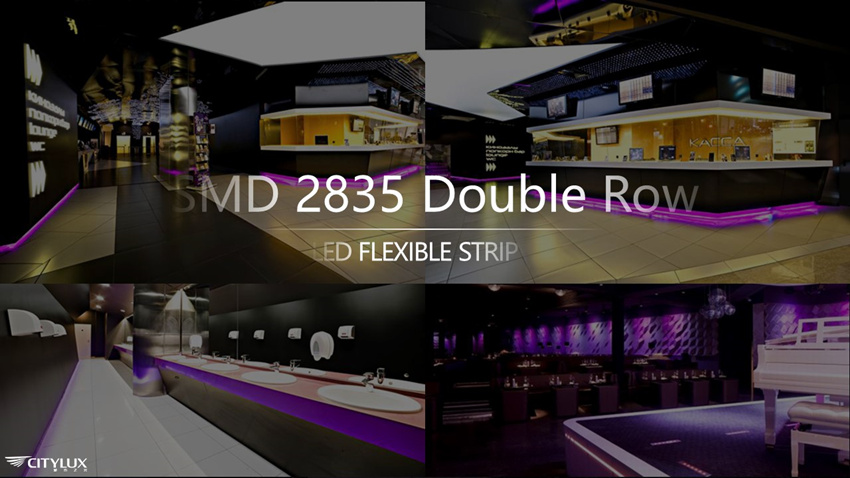 SMD 2835 Double Row LED Flex Strip Applications