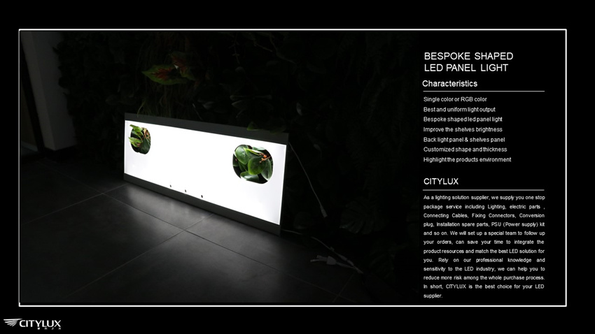 Shelves panel led panel light