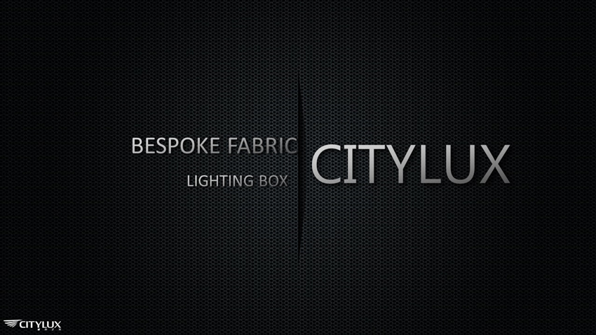 Bespoke Fabric LED Lighting Box