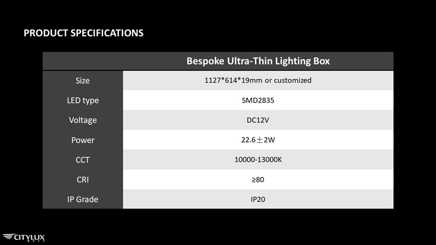 High quality LED efficient Lighting Box
