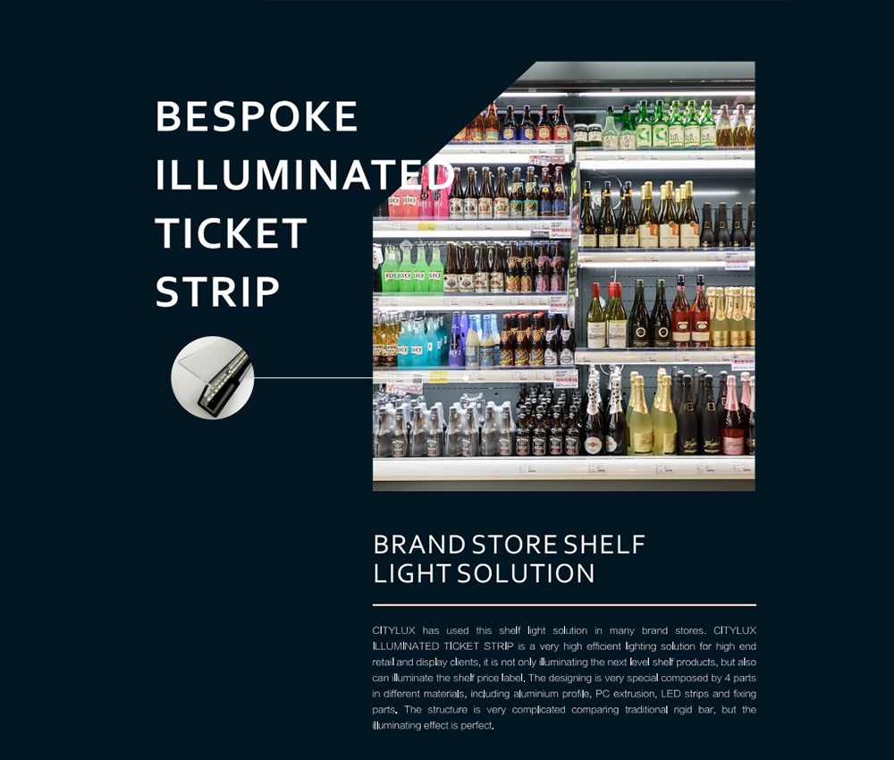 Bespoke Supermarket lighting solutions